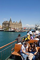 Turkey, Istanbul, Asian side, Kadikoy district, Istasyonu Haydarpasa station opened in 1908 in neoclassical style German