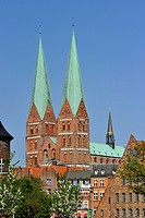 Germany, Schleswig Holstein, Lubeck, listed as World Heritage by UNESCO, Marienkirche