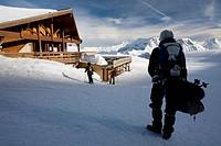 France, Hautes Alpes, Orcieres Merlette, Rocherousse plateau