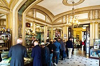 Italy, Campania, Naples, Historic center listed as World Heritage by UNESCO, Piazza del Plebiscito, Caffe Gambrinus founded in 1860, a former purveyor...