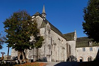 France, Correze, Parc Naturel Regional de Millevaches en Limousin Regional Natural Park of Millevaches en Limousin, Saint Angel, church of Saint Miche...