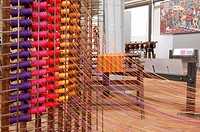 France, Nord, Roubaix, coils of wire loom to the museum of the Manufacture des Flandres a museum and workshop dedicated to the memory of the textile i...