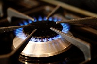 Open Gas Flame on a Cooking Stove