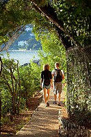 France, Alpes Maritimes, Roquebrune Cap Martin, Cap Martin, coastal footpath, Promenade Le Corbusier