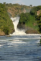 Murchison Falls in Murchisons National Park, Uganda.