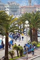 France, Alpes Maritimes, Nice, Quai des Etats Unis USA quay