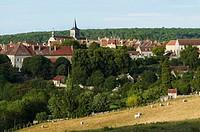 France, Cote d´Or, Flavigny sur Ozerain, labeled Les Plus Beaux Villages de France The Most Beautiful Villages of France,