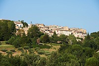 France, Var, Tourtour, labeled Les Plus Beaux Villages de France The Most Beautiful Villages of France, view of the village, houses and streets