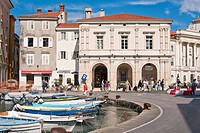 Slovenia, Gulf of Trieste, Adriatic Coast, Primorska Region, Piran, the harbour