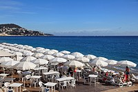 Beach, Nice, Cote d Azur, Alpes Maritimes, Provence, French Riviera, France, Europe