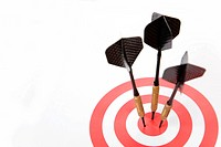 Three darts in a target