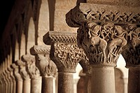 Romanesque cloister, Santo Domingo de Silos monastery  Burgos  Spain