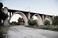 Manzanares railway bridge  Madrid  Comunidad de Madrid Spain  Europe