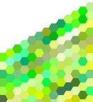 3d render of hexagon in green on white