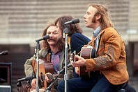 Crosby, Stills and Nash in concert at Balboa Park, San Diego, California, in the early 1970s. Crosby, Stills and Nash CSN are a folk rock band that we...