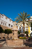 Plaza de la Iglesia square old town Marbella Andalusia Spain Europe