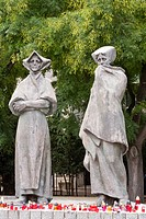 Slovakia, Bratislava, a memorial to the Slovakian uprising against the Nazis during World War II