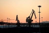 cranes on the quay
