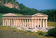 The Temple of Segesta stands on a 304m 997_ft. hill, on the edge of a deep ravine carved by the Pispisa River in Sicily. Constructed in 430 B.C., the ...