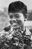Wilma Rudolph, photographed for LIFE October 17, 1960.