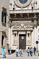 Italy, Puglia, Lecce, Santa Croce basilica built in the 16th and 17th century