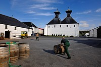 United Kingdom, Scotland, Inner Hebrides, Islay Island, Port Ellen, Ardbeg Scotch whisky distillery