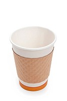 Disposable Coffee Cup with white background