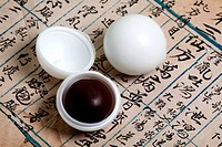 white wax sealed pill of Chinese medicine