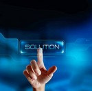 Solution button in a virtual display