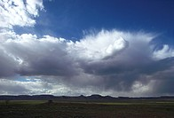 Cumulonimbus clouds with rain showers. New Mexico.