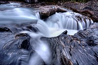 Blurred water flowing British Columbia Canada