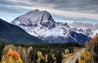Rocky Mountains Kananaskis Alberta Canada in the Autumn Fall