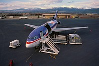A Federal Express plane.