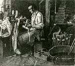 Blacksmith Thomas Davenport 1802_1851, of Brandon, Vermont, made the world´s first battery_powered electric motor in 1834 by winding a magnet with sil...