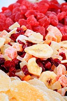 Mix of dried fruit _ full frame