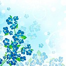 illustration of the forget_me_not flower background