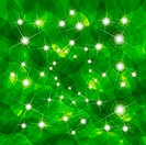 Illustration, abstract green texture with bright glare