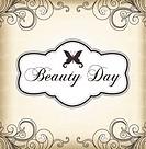 Vintage frame Beauty Day