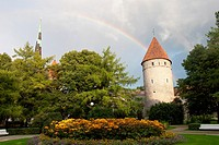 Rainbow in the Tompea castle, Tallinn, Harju, Estonia