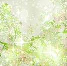 Sparkly Green Garden Art Textured Background