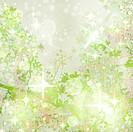 Sparkly Green Garden Art Textured Background