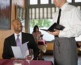 Man ordering in restaurant