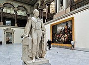 Statue of King Leopold I in the Museum of Ancient Art, Brussels, Belgium