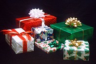 Christmas gifts, wrapped