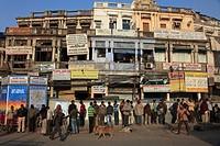 India, Delhi, Old Delhi, Chawri Bazar, street scene.
