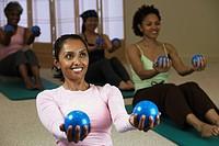 Multi_ethnic women in exercise class