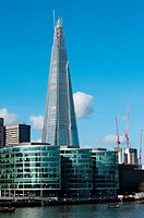 The Shard of Glass above City Hall, London, England