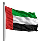 United Arab Emirates flag. Rendered with fabric texture visible at 100. Clipping path included.