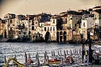 Boats on Sicily Coast in Italy