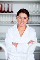 Portrait of a young scientist posing in a laboratory